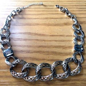 Silver link necklace NWOT